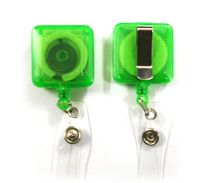Square Clip Badge Reel